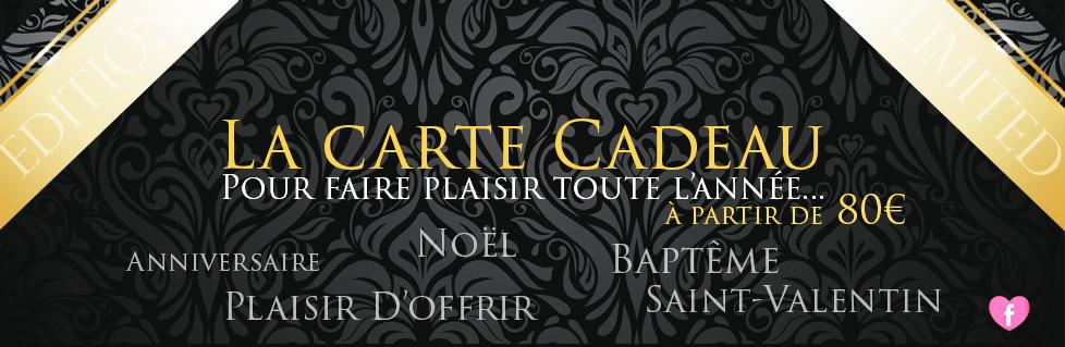 Carte Cadeau - Fond Noir