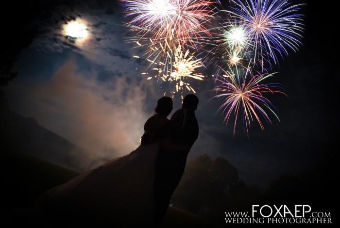 Feux d'artifices pour un jolie mariage à Pont de Pany